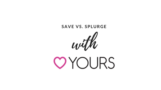 save vs splurge